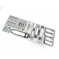 Набор для откручивания поврежденных гаек, болтов, шпилек. 33 предмета в лотке  Forsage T5331