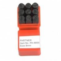 Набор цифровых штампов 9пр. (7мм)  Partner PA-6855-7