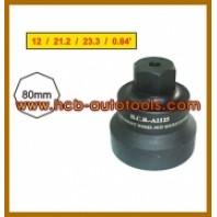 Съемник передних ступичных гаек для SCANIA (H41, 8-гран., 80мм)  HCB A1125