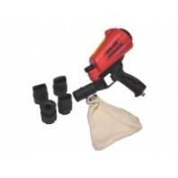 Пескоструйный пистолет со встроенной емкостью для песка 1л и резиновыми насадками  (4 шт)  Forsage HSB-I