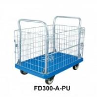 Тележка пластиковая складская с бортами (г/п 300кг)  Forsage FD300-A-PU