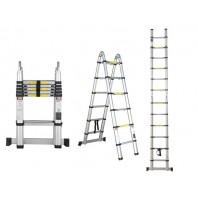 Лестница телескопическая двухсекц. алюм. 158/320см 12,1кг STARTUL (ST9713-025)