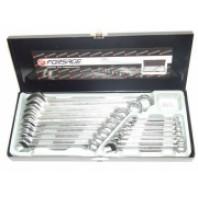 Металлический кейс с лотком для набора ключей комбинированных на 16пр.  Forsage 5161-MC