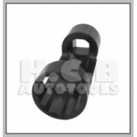 Ключ для откручивания штока амортизатора (12-гран., 22мм) (VW, BMW) 1/2
