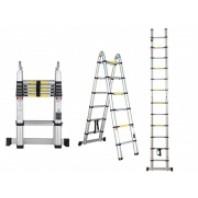 Лестница телескопическая двухсекц. алюм. 156/320см 12кг  STARTUL ST9703-025